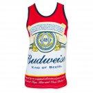 Budweiser Men's Bottle Label Tank Top White