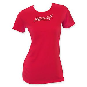 Budweiser Ladies T-Shirt Red
