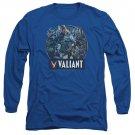 Valiant Ready For Action Long Sleeve T-Shirt Blue