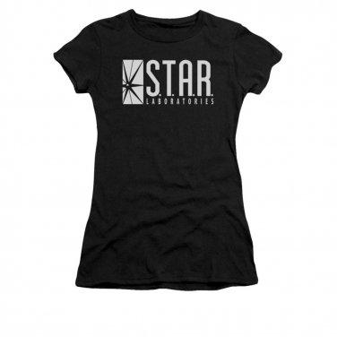 The Flash STAR Juniors T-Shirt Black