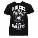 Walking Dead Men's Riders Not Walkers Tee Shirt Black