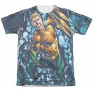 Aquaman Trident Sublimation T-Shirt White