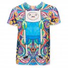 Adventure Time Sublimated Psychedelic Finn Tee Shirt White