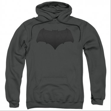 Batman v Superman Bat Logo Pullover Hoodie Gray