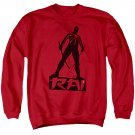 Rai Silhouette Crew Neck Sweatshirt Red