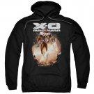 Xo Manowar Lightning Sword Pullover Hoodie Black