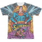 Superman Blast Off Sublimation T-Shirt White