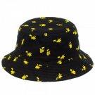 Pokemon Pikachu Bucket Hat Black