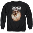 Xo Manowar Lightning Sword Crew Neck Sweatshirt Black