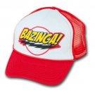 Big Bang Theory Cap Bazinga Fan Trucker Hat Red
