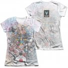 Valiant All Accounted For 2-Sided Juniors Sublimation T-Shirt White