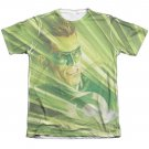 Green Lantern Rays Of Light Sublimation T-Shirt White