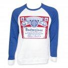 Budweiser Raglan Crew Neck Shirt White