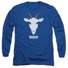 Quantum And Woody Goat Head Long Sleeve T-Shirt Blue