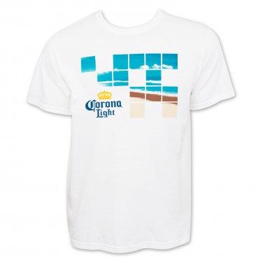 Corona Light Beach Squares Men's T-Shirt White