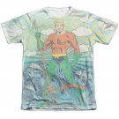 Aquaman Sonar Sublimation T-Shirt White