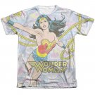 Wonder Woman Collage Sublimation T-Shirt White