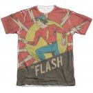 The Flash Vintage Comic Sublimation T-Shirt White