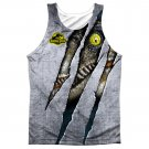 Jurassic Park Raptor Sublimation Tank Top Gray