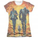 Quantum And Woody Fire It Up Juniors Sublimation T-Shirt White