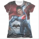 Batman v Superman Super Light Sublimation Juniors T-Shirt White