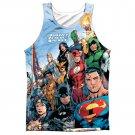 Justice League Sublimation Tank Top Blue