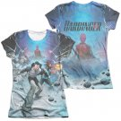 Harbinger Eyes 2-Sided Juniors Sublimation T-Shirt White