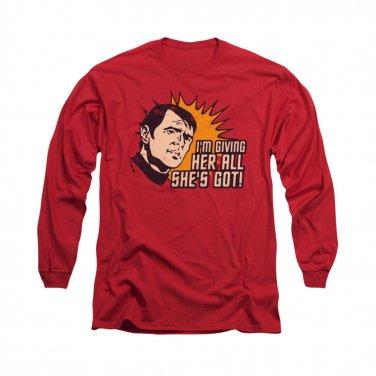 Star Trek All She's Got Long Sleeve T-Shirt Red