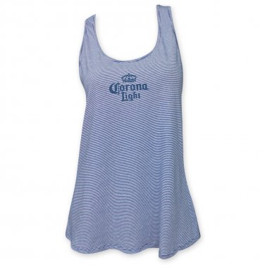 Corona Light Racerback Women's Light Beer Logo Tank Top Blue