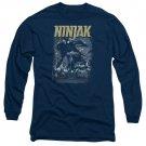 Ninjak Rainy Night Ninjak Long Sleeve T-Shirt Blue