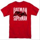 Batman v Superman Silhouette Fight T-Shirt Red