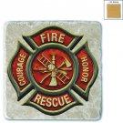Firefighter Classic Fire Maltese Stone Coaster Beige