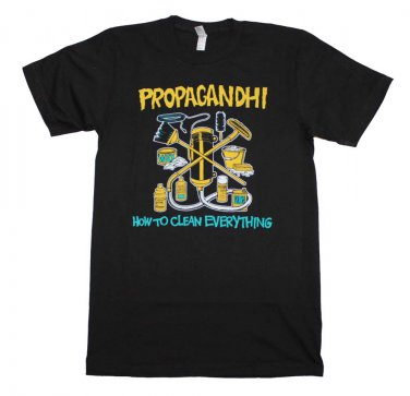 Propagandhi How to Clean Everything T-Shirt Black