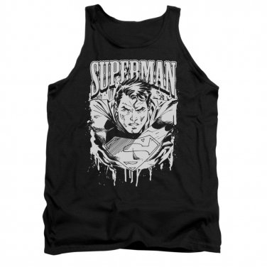 Superman Super Metal Tank Top Black