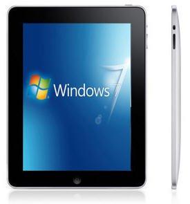 9.7 Windows 7 Tablet Intel Atom N2600 Dual Core 2G 32GB Wifi IPS Dual Camera with USB Keyboard