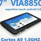 LOT/7 Pieces 7Inch Capacitive Android 4.0 VIA 8850 Cortex A9 1.2Ghz 512M 4GB Hdmi Wifi Camera Tablet