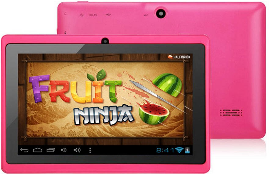Color Tablet Dual Camera 7 Inch Capacitive Touch Screen 4GB A13 Q88 4.0 Wi-Fi