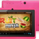 Color Tablet Dual Camera 7 Inch Capacitive Touch Screen 4GB A13 Q88 Google Android 4.0 Wi-Fi