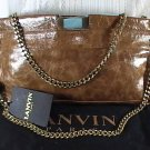 Authentic Lanvin Paris Brown Chain Shoulder bag, Used