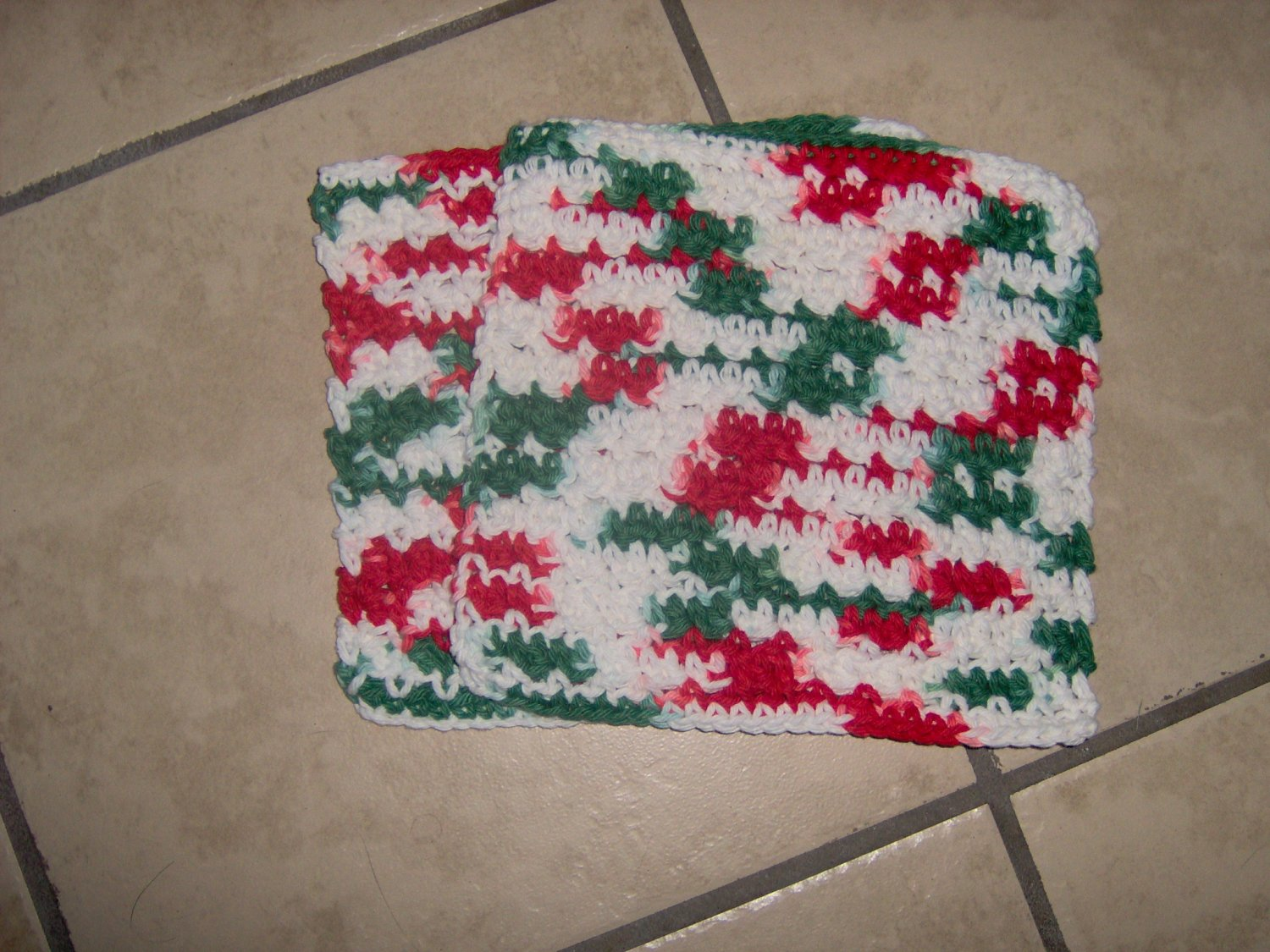 Set of 2 Christmas Dish Cloths