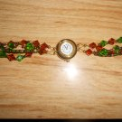 Hand Made Beaded Gold Watch