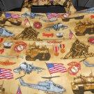 Handmade Embroidered Military Tote - Marine