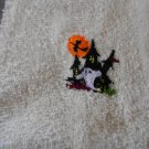 Embroidered Hand Towel - Halloween House