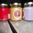 Lot of 3 6.5oz Candles-Apple Jack  and Peel, Vanilla & Lavender