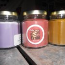 Lot of 3 6.5oz Candles-Lavender, Cappaccino Mocha & Sweet Home