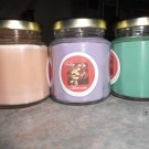 Lot of 3 6.5oz Candles-Lavender, Sweet Melon & Pumpkin Pie