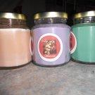Lot of 3 6.5oz Candles-Lavender, Sweet Melon & Pumpkin Pie