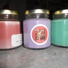 Lot of 3 6.5oz Candles-Lavender, Sweet Melon & Cinnamon Stick