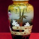 Oriental Vase 1950s Landscape Florla Trees