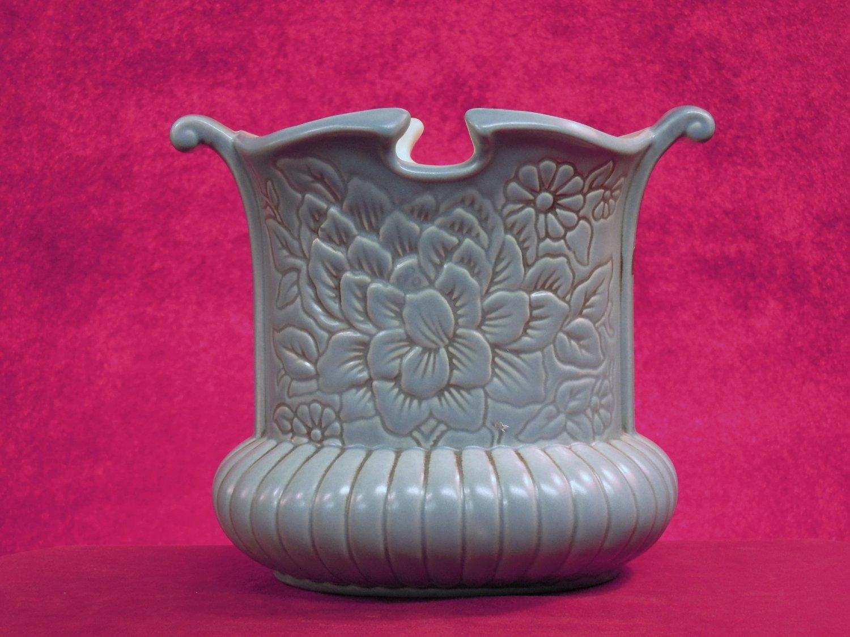 red wing vase planter light blue 1183